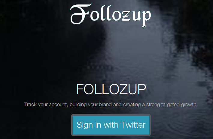 Follozup Twitter Tool Login